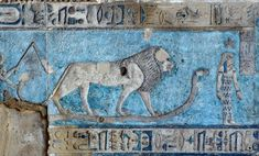 [EGYPT 'Birth of the sun in Hathor Temple at Dendera.' The rising sun is born from the lap of sky goddess Nut on the astronomical ceiling in the outer hypostyle hall of the Hathor Temple at Dendera. The ceiling consists of seven separate strips but Ancient Egypt Art, Ancient History, Fresco, Egyptian Art, Egyptian Temple, Gods And Goddesses, Ancient Civilizations, Moose Art, Sculptures