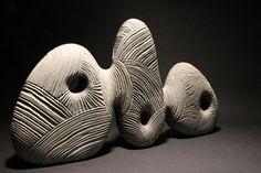 Contemporary Sculpture by Thierry Martenon – OEN Art Sculpture, Stone Sculpture, Abstract Sculpture, Sculpture Ideas, Contemporary Sculpture, Contemporary Decor, Thierry Martenon, Parametrisches Design, Plastic Art