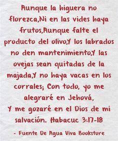 Aunque la higuera no florezca,Ni en las vides haya frutos,Aunque... Psalm 25, Vides, Meaningful Words, Math, Quotes, Sentences, Bible, Words, Hipster Stuff