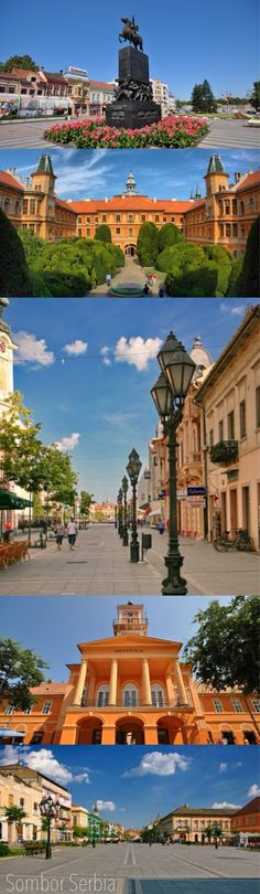 The sights of Sombor, Serbia. Sombor is a city located in the province of Vojvodina, Serbia.