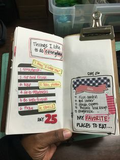 Day 25 & 26: @30daysoflists #smashbook #artjournal #carlascreativelife #scrapbook #mtn #midoritravelersnotebook #scrapbooking #pocketpages #projectlife