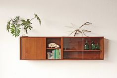 Two Mid Century Floating Cabinets Cupboard von OtherTimesVintage