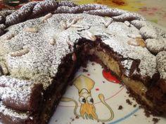 Torta al cacao con crema di banane