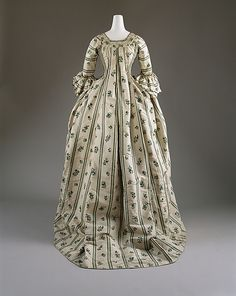 1750–75 French Robe a la Francaise, MET