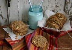 These Apple Cookies with Oatmeal and Caramel by #Walmart Mom Liz will take you right back to being a kid at the county fair.