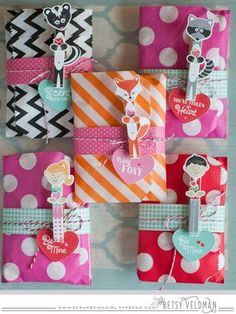 Valentine Pin-Ups Treat Bags by Betsy Veldman for Papertrey Ink (December 2015)