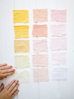 DIY FABRIC DYEING with natural dyes from your kitchen