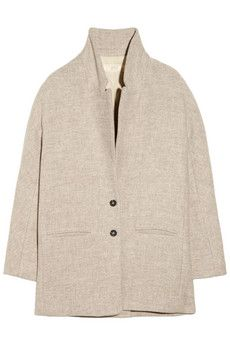 ++ oversized wool bend coat