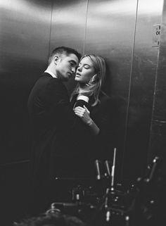Love in an elevator...lovin' it up when I'm goin' doooown!!!
