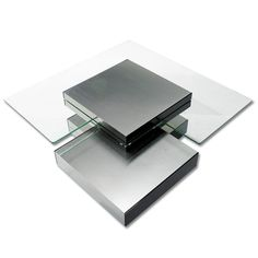 Contemporary Glass Multi Level Coffee Table