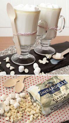 Dreamy White Hot Chocolate for Drinks Bar  | 25 DIY Winter Wedding Ideas on a Budget | Winter Wedding Food Ideas