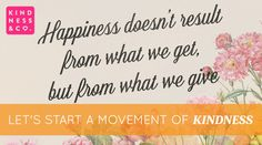 Let's Start a Movement of Kindness