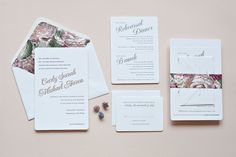 Carly + Michael's Classic Copper and Gray Wedding Invitations | Photo by Suite Paperie
