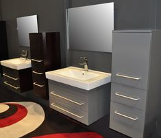bathroom bathroom design with white ceiling and tosca wall paint plus large white cabinet design