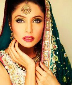 Latest Bridal Dresses 2012 by Aiesha Varsey - Indian Fashion - Zimbio Pakistani Models, Pakistani Actress, Latest Bridal Dresses, Bridal Gowns, Indian Bridal Makeup, Wedding Makeup, Exotic Beauties, Pakistani Wedding Dresses, International Style