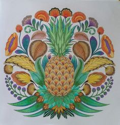Tropical World Coloring Book See More Pineapple From Wonderland