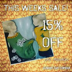 "This weeks sale is ""the Meadow"" with off! Trending Outfits, Unique Jewelry, Handmade Gifts, Painting, Etsy, Vintage, Women, Art, Handcrafted Gifts"