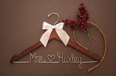 Personalized Wedding Hanger bridesmaid by whiskeynweddingbells, $24.99