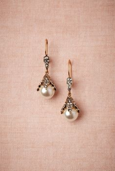 Snow Bud Earrings from BHLDN - $140 #mwbridalstyle and #bhldnbride