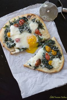 Kale and Egg Breakfast Pizza via LittleFerraroKitchen.com by FerraroKitchen1, via Flickr