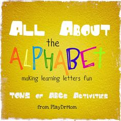 All About the Alphabet: Fun with learning letters