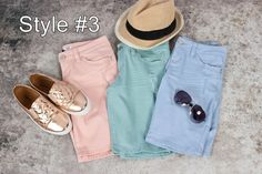 If your looking for a little more length in your shorts, then these Bermuda shorts in 4 styles are for you. Stretch fabric allows you to move in comfort. Go ahead reinvent your look. 5 pockets, belt loops with zipper and one button enclosure. Work Shorts, Stretch Fabric, Bermuda Shorts, Zipper, Style, Swag, Stylus, Zippers, Outfits