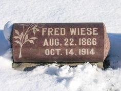 Tombstone Tuesday: Fred and Emma (Stübe) Wiese #genealogy