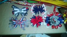 Red blue and white $3.00 Flower headband $4.00