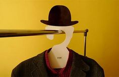 """Igor """"Rogix"""" Udushlivy has created a coat hanger with a shape inspired by René Magritte paintings. Magritte Paintings, Hat Hanger, Blog Design Inspiration, Rene Magritte, Design Art, Graphic Design, Surrealism, Cool Stuff, Industrial Design"""