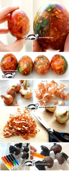Marbled EGGS with Onion Skin Pieces and dye on top Easter Egg Dye, Coloring Easter Eggs, Egg Recipes, Easter Recipes, Easter Ideas, Food Dye, Diy Easter Decorations, Egg Art, Easter Holidays