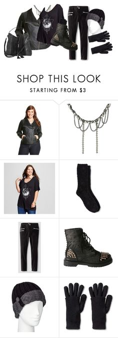 """""""Target Store Goth"""" by zodiacghoul ❤ liked on Polyvore featuring Ava & Viv, Fifth Sun, Gilligan & O'Malley, Almost Famous, Gia-Mia, Merona, Moda Luxe and plus size clothing"""