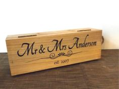 Personalised Mr & Mrs Wedding Wine/Champagne Box - Make Memento - 1