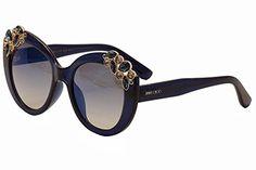 f147f8f5838f Jimmy Choo 4JS Blue Megan Cats Eyes Sunglasses Lens Mirrored