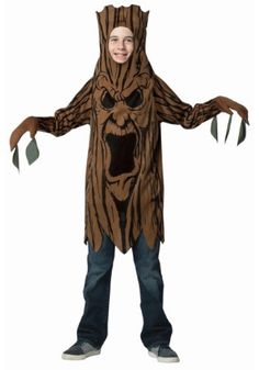 Let your child become a part of the haunted forest in this Scary Tree Child Costume. Watch in awe as they scare the leaves off of all their friends.
