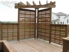 Like the corner arbour, privacy screen / arbor