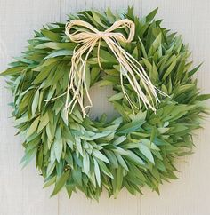 Our fresh organic bay leaf wreaths are one of our most popular wreaths and has become a holiday tradition for many of our customers. From the hills