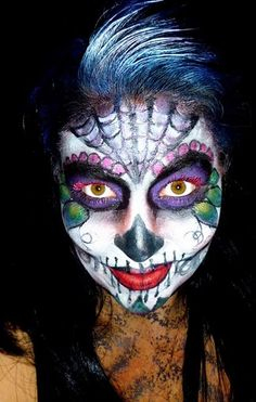 Day of the Dead, I will have to post my picture instead, but for now I will use this one!