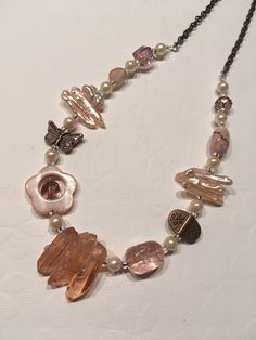 Rose Blush Spring Necklace...because Spring still hasn't arrived in Montreal!