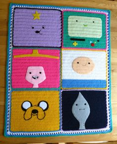 Adventure Time blanket. My nephew would like this (and so would I)
