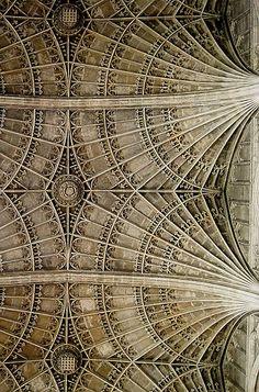Gothic fan vault details