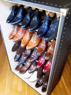 Turn a trunk into a shoe cabinet | 23 DIY Upgrades Any Man Can Make To Look Better