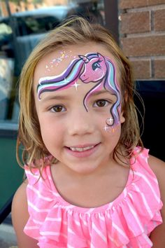 Animal Face Paintings, Animal Faces, Unicorn Kids, Famous Last Words, Face And Body, Body Painting, Pony, Facial, Make Up