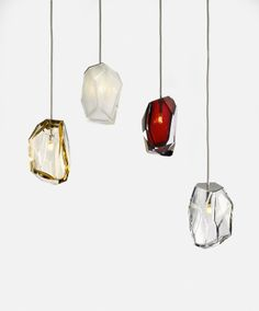 Crystal Rock lights by Arik Levy for Lasvit