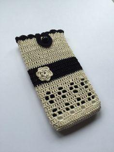 Cubierta del teléfono del teléfono del caso de ganchillo