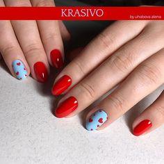 """Тосно Маникюр Гель-лак Ногти on Instagram: """"А вот и весь образ полностью❤️😍❤️ . Я Работаю в городе #Тосно . 👑 Предлагаю услугу покрытия натуральных ногтей гель-лаком . 👑 В моей…"""" Simple Nail Designs, Simple Nails, Make Up, Nail Art, Beauty, Plain Nails, Nail Arts, Makeup, Easy Nail Art"""