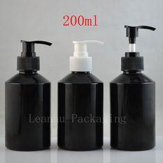 200 ml pusty recyklingu szklanych butelek balsam pompa szampon do opakowań kosmetycznych 200g szklanych pojemników ciśnienia pompa dozownik mydła(China (Mainland))