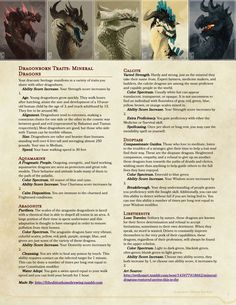 Homebrewing races I saw This Post going around and decided to make some new dragonborn options for them. I decided to take out the breath weapons for them (since its complete garbage in the handbook) and try doing. Dungeons And Dragons Races, Dungeons And Dragons Classes, Dnd Dragons, Dungeons And Dragons Homebrew, Fantasy Races, Fantasy Rpg, Dnd Dragonborn, Dnd Stats, Dungeon Master's Guide