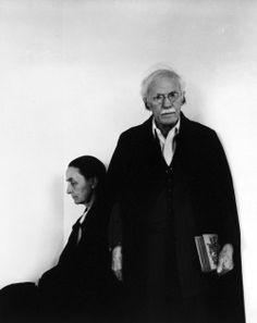 Arnold Newman ::  Georgia O'Keeffe and Alfred Stieglitz, 1940′s / more [+] by this photographer