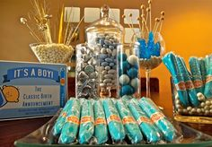 baby shower ideas | Baby Shower Para Niño. | Dulces Manitas
