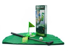 Toilet Golf - What better time to practice your putting than when you are in the loo? Man Cave Gear, Man In Love, Make It Yourself, Paper, Fields, Pranks, Original Gifts, Mugs, Games
